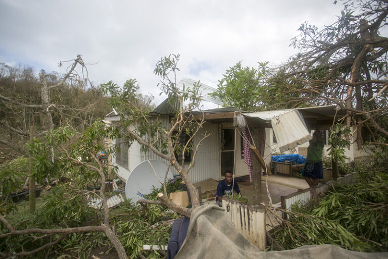 One of the many houses in Ciqomi on Naitauba that were damaged or destroyed by Cyclone Winston.